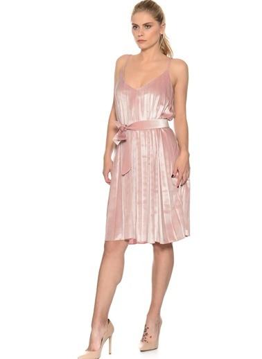 House Of Camellia House Of Camellia Pembe Askılı V Yaka Kadın Elbise Pembe